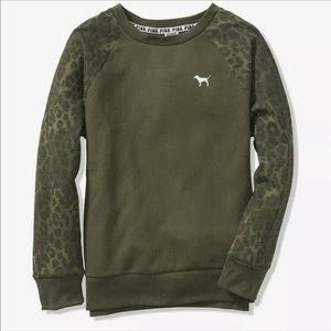 PINK Victoria's Seret Leopard Print Sweatshirt